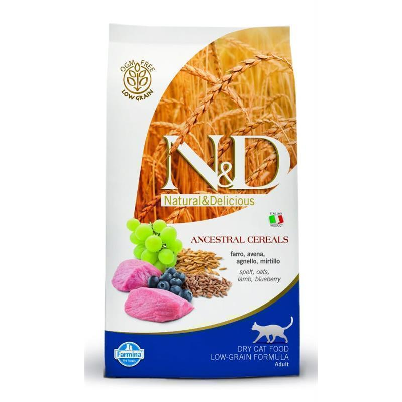 N&D Adult Cat AG jagnjetina in borovnice 2x5kg