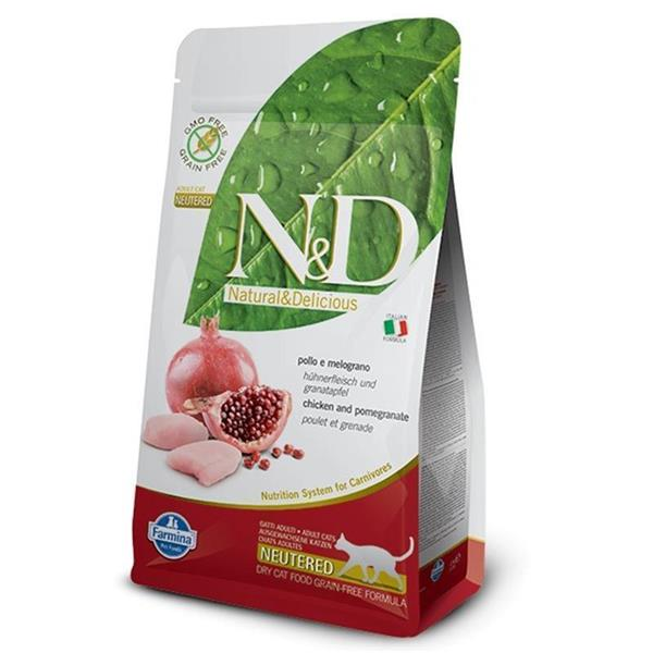 N&D Adult Cat Neutered Chicken and Pomegranate Grain Free