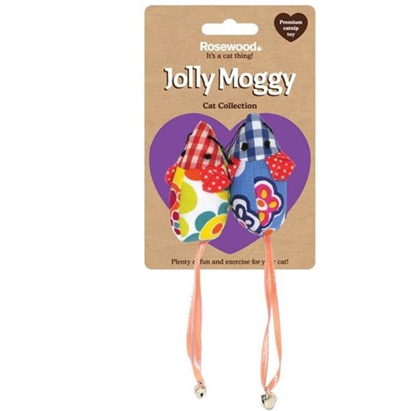 Rosewood Jolly Moggy Patchwork Mice Duo