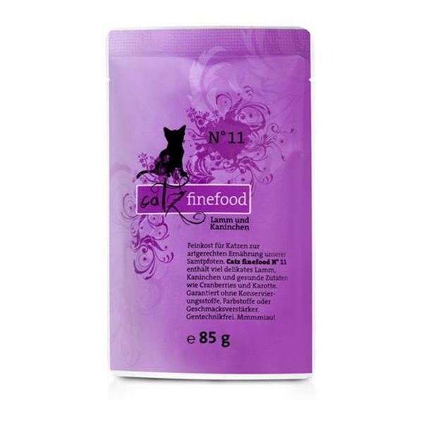 Catz Finefood no. 11 jagnjetina in zajec 85g