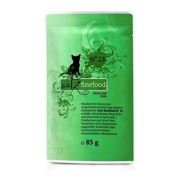 Catz Finefood no. 23 govedina in raca 85g