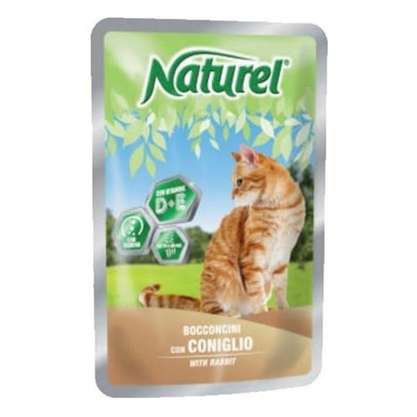 Naturel cat vrečka zajec 100g