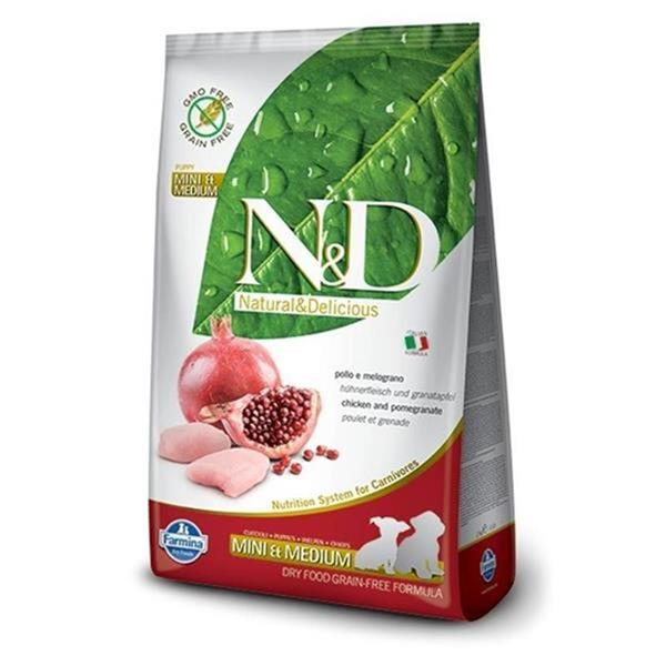 N&D Puppy Small&Medium Chicken and Pomegranate Grain Free