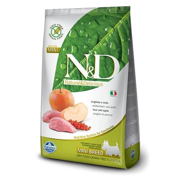 N&D Adult Dog Mini Boar and Apple Grain Free