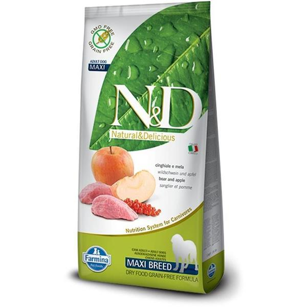 N&D Adult Dog Maxi Boar and Apple Grain Free 12kg