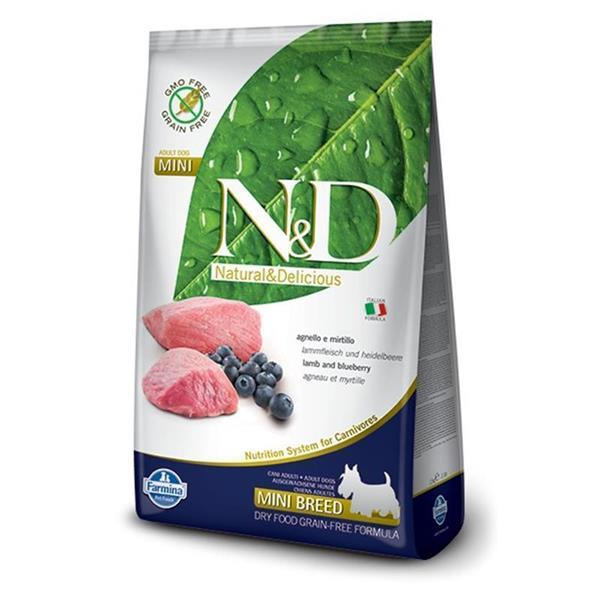 N&D Adult Dog Mini Lamb and Blueberry Grain Free