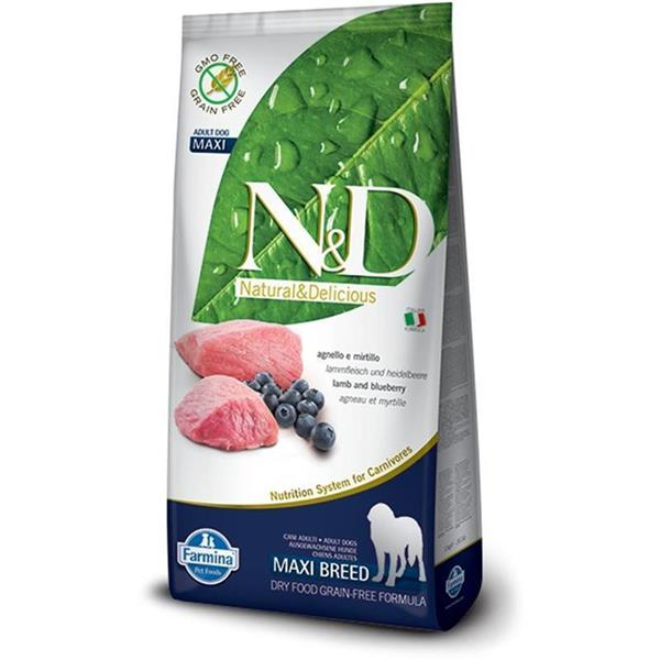 N&D Adult Dog Maxi Lamb and Blueberry Grain Free 12kg