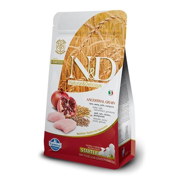 N&D Chicken and Pomegranate Low Grain Puppy Starter 800g