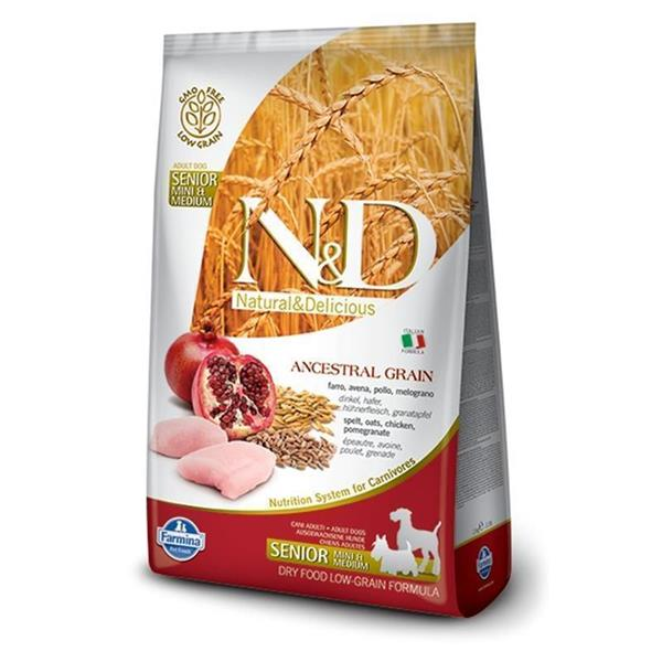 N&D Chicken and Pomegranate Low Grain Senior Mini&Medium