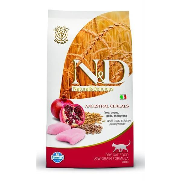 N&D Adult Cat Low Grain piščanec in granatno jabolko 2x5kg