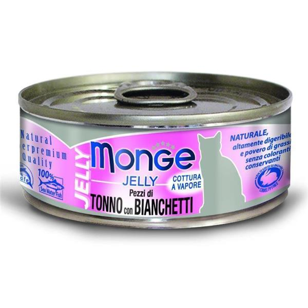 Monge Cat Jelly Yellowfin tuna in girice 80g