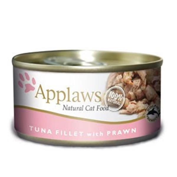 Applaws mokra hrana za mačke Adult Tuna fillet & Prawn 156g