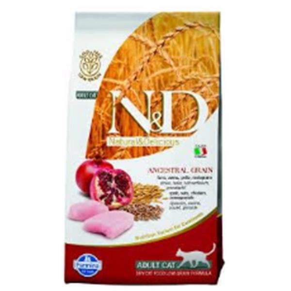 N&D Adult Cat Neutered Chicken and Pomegranate Low-Grain