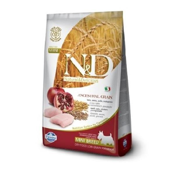 N&D Adult Dog Chicken and Pomegranate Low Grain Mini