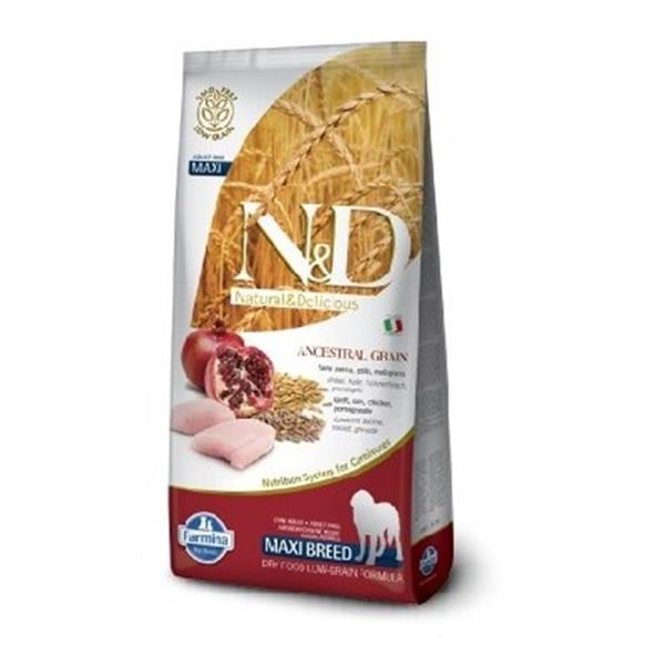 N&D Adult Dog Chicken and Pomegranate Low Grain Maxi 12kg