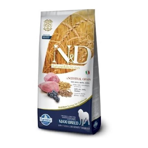 N&D Adult Dog Lamb and Blueberry Low Grain Maxi 12kg