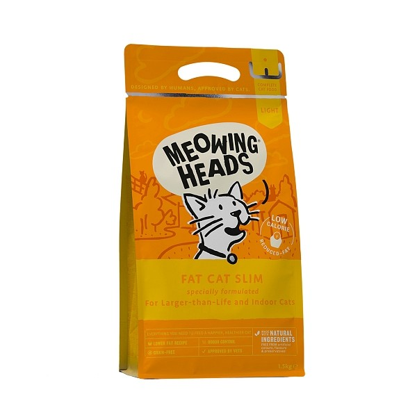 Meowing Heads briketi Fat Cat Slim 1,5kg