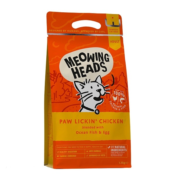 Meowing Heads briketi Paw Lickin'Chicken 4kg