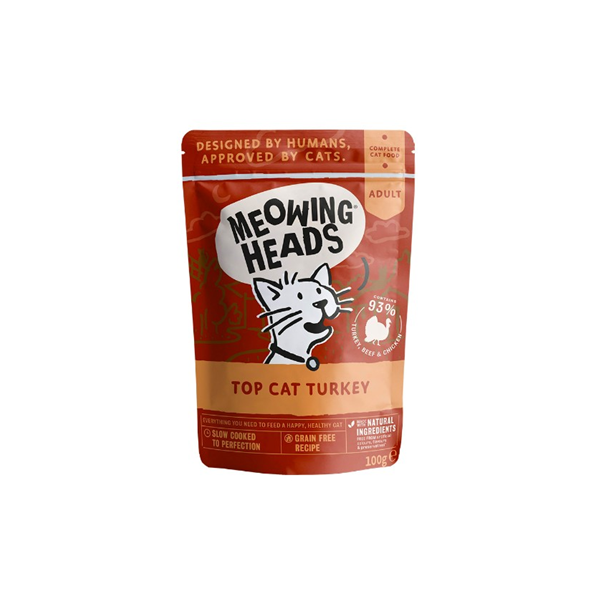 Meowing Heads vrečka Top Cat Turkey 100 g