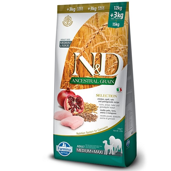 N&D Adult Dog AG SELECTION 12+3kg