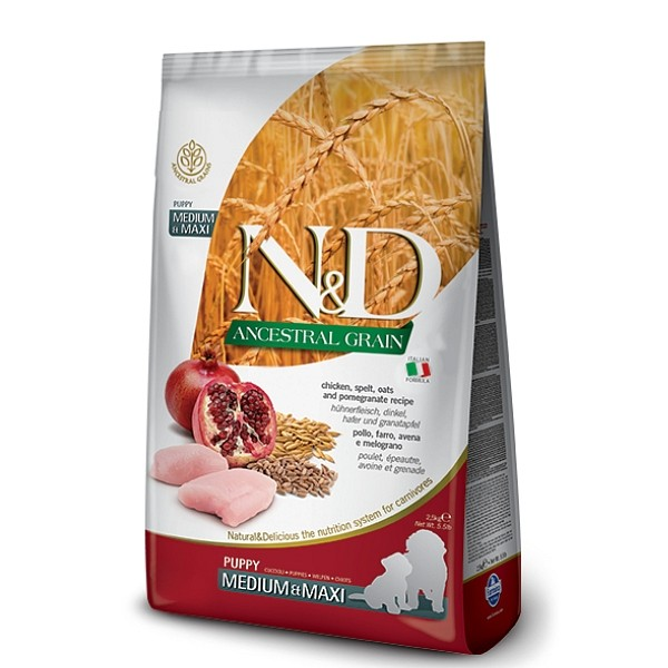 N&D Chicken and Pomegranate Puppy AG Medium&Maxi