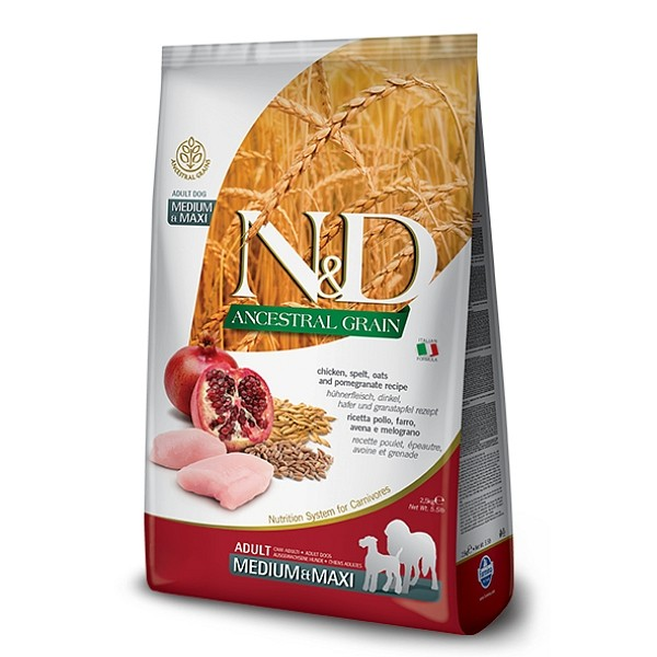 N&D Adult Dog Chicken and Pomegranate AG Medium&Maxi
