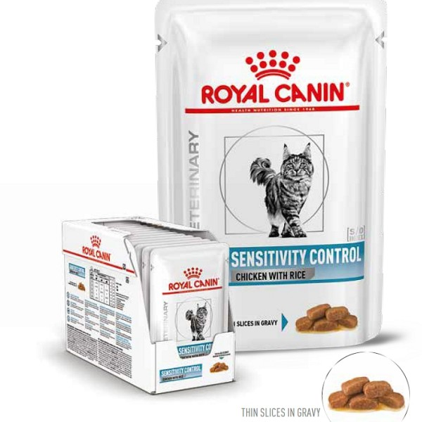 RC Veterinary Diet Cat Sensitivity Control vrečka piščanec 12x85g