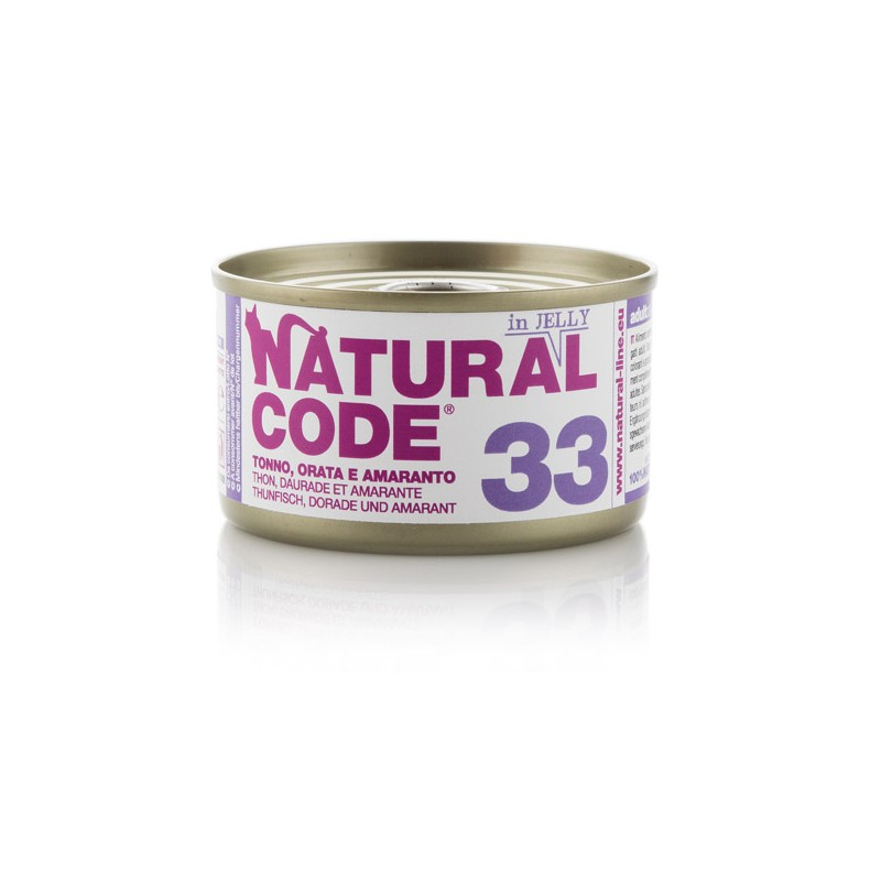 Natural Code 33 Tuna, orada in amarant v želeju 85g