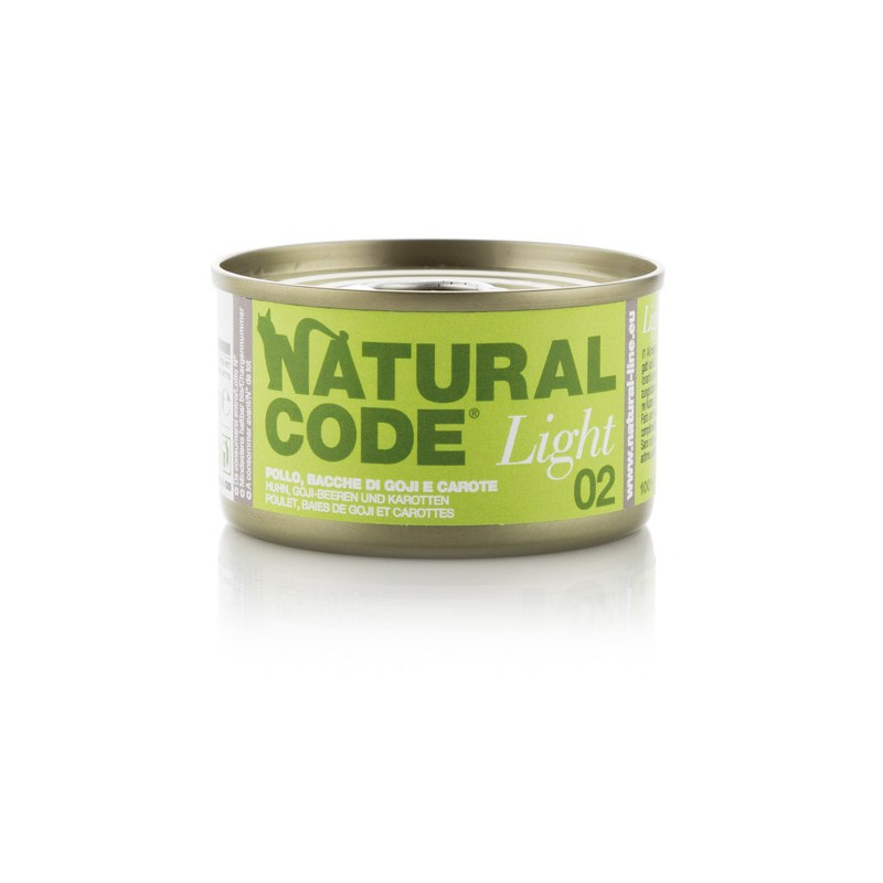 Natural Code Light 02 Piščanec, goji jagode in korenje 85g