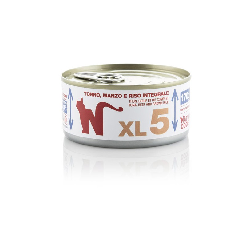 Natural Code XL5 Tuna, govedina in rjavi riž 170g