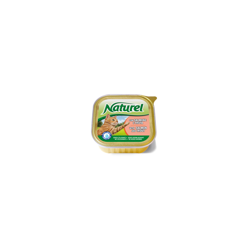 Naturel cat alu posodica losos in postrv 100g